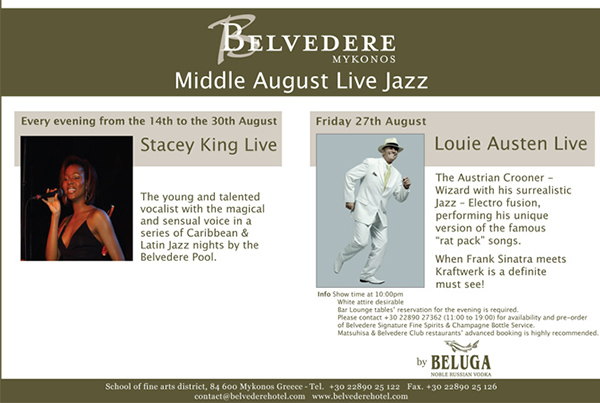 Belvedere Hotel Middle August Live Jazz